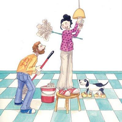 Locura de mam limpiando y tranquilo fin de semana - Trabajo limpiando casas ...