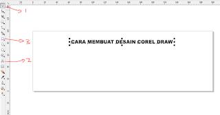cara membuat tulisan dengan corel draw