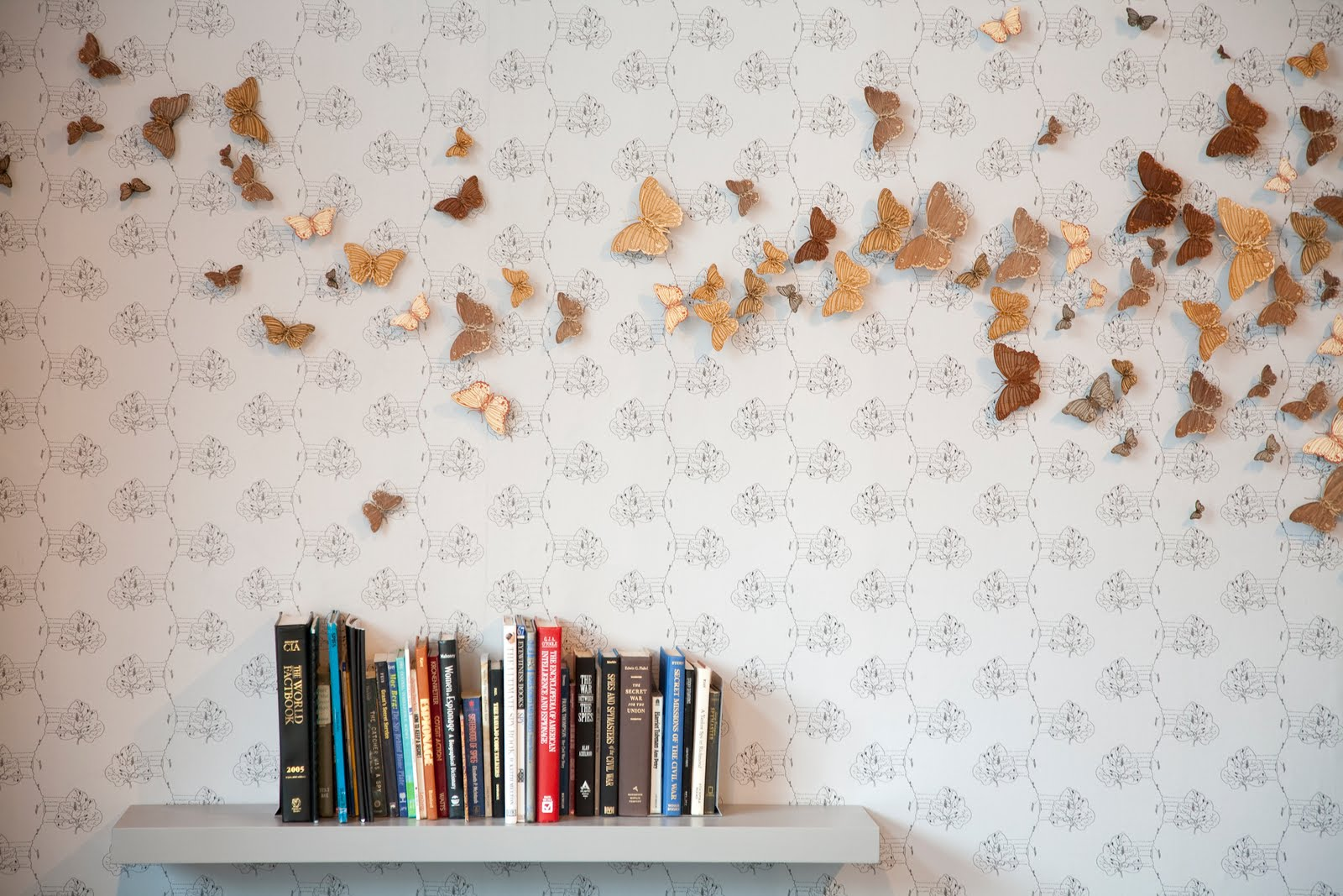 Students reading books wallpaper for Decoracion con papel