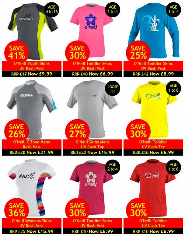 cheap UV tops and sunsuits