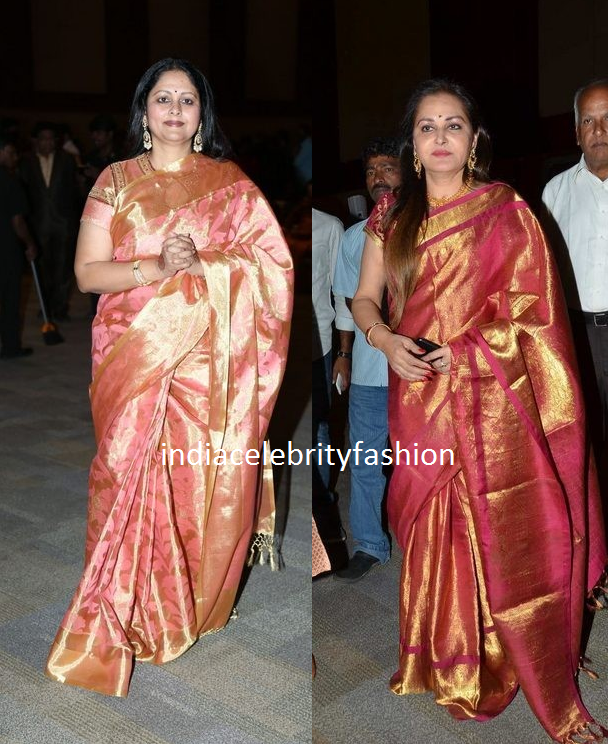 Jayasudha and Jaya prada in Pattu Sarees