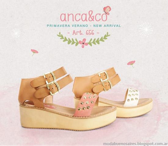 Sandalias 2014 Anca & Co primavera verano 2014. Moda verano sandalias 2014.