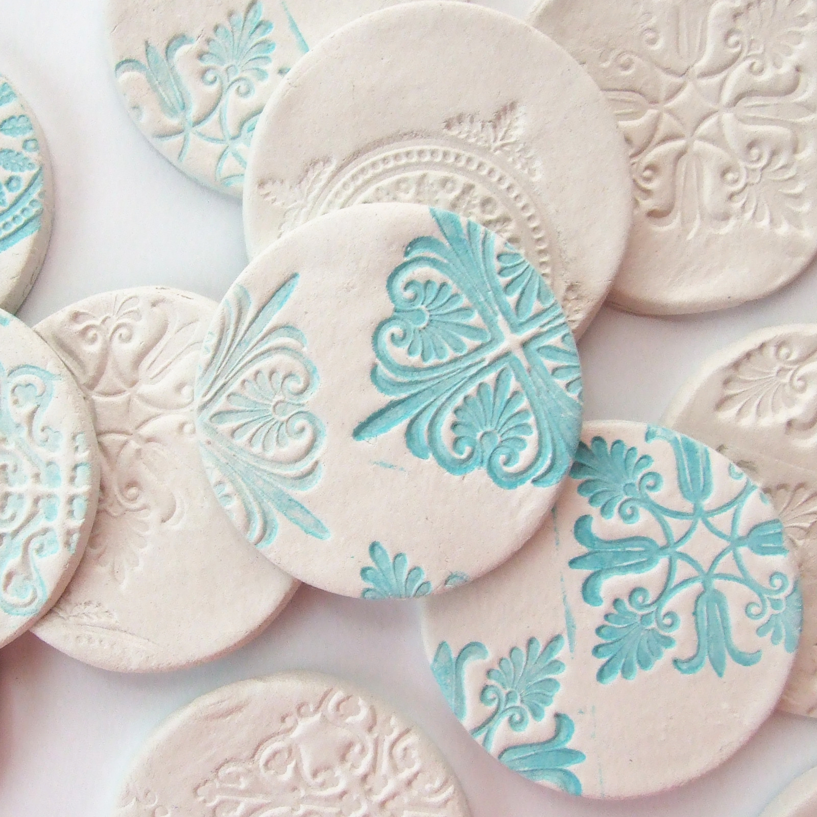 Diy stamped clay magnets gathering beauty for Air dry clay crafts