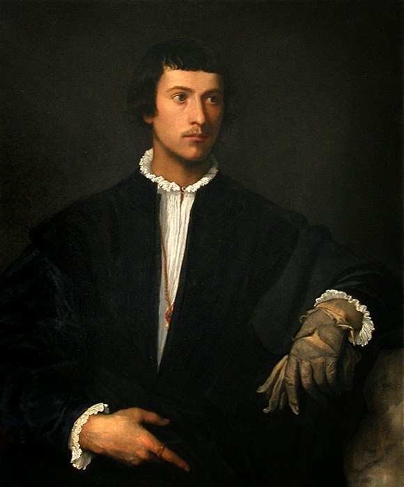 "Picture of ""Man With a Glove""by Titian, 1520-1522"
