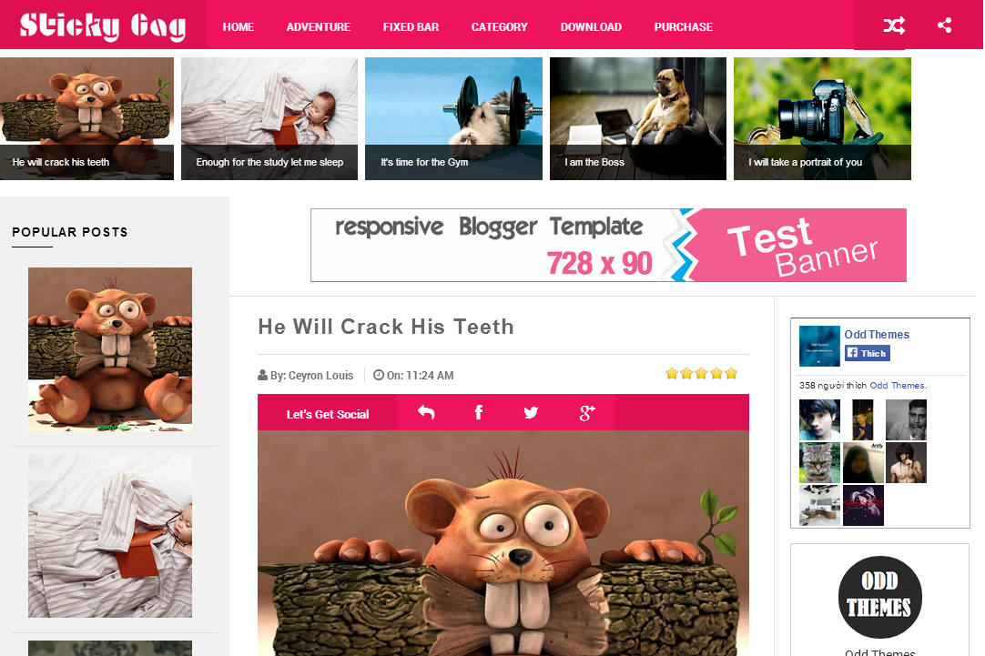 Share StickyGag Responsive Blogger Template