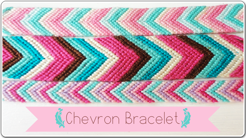 how to make a chevron bracelet with 2 colors