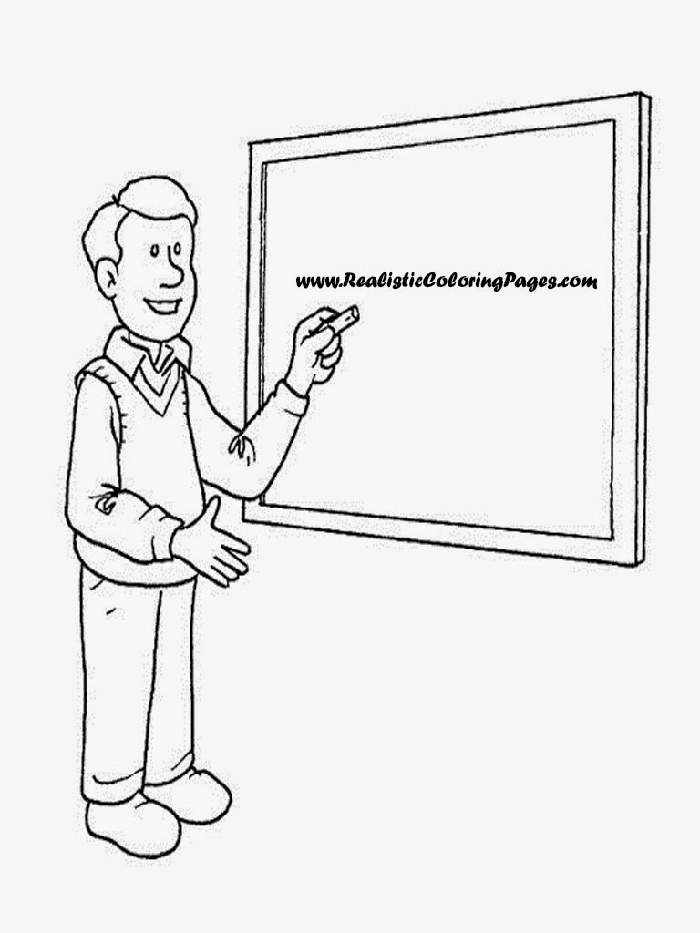coloring pages of a teacher - photo#29