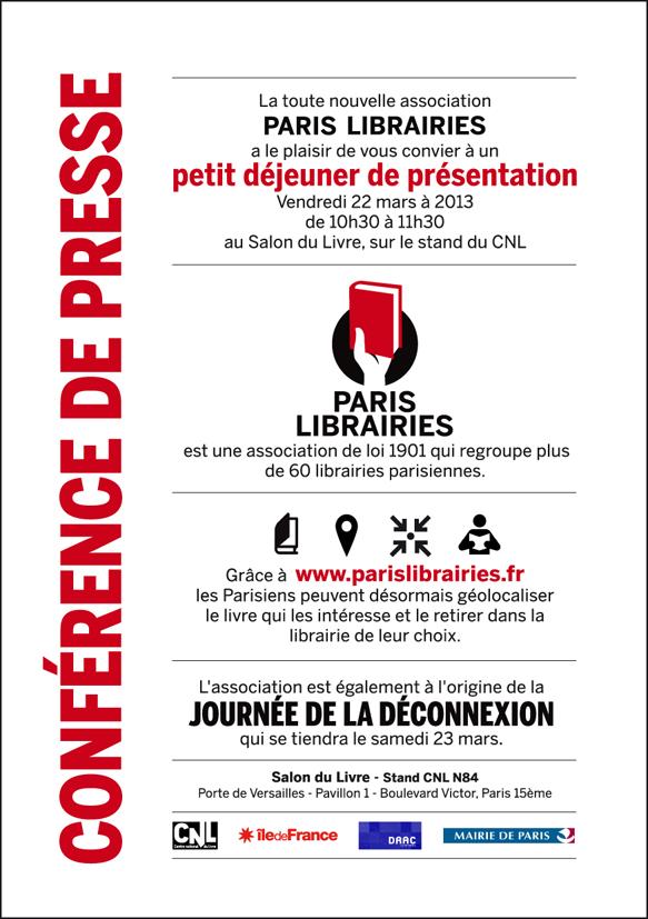 Bak office design graphique responsable site en francais identit visuelle de paris librairies - Invitation salon du livre ...
