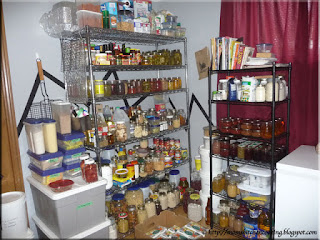 west wall of pantry=