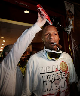 Ray Allen Heat Locker room celebration