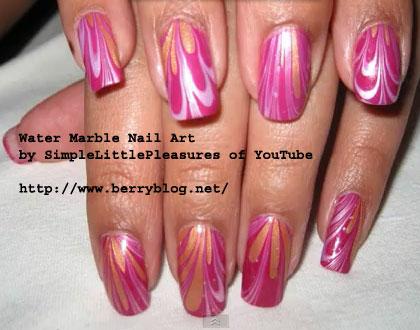 marble nail art-24