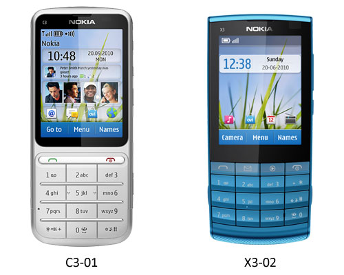 nokia x3 touch and type pictures. The Nokia X3-02 and Nokia