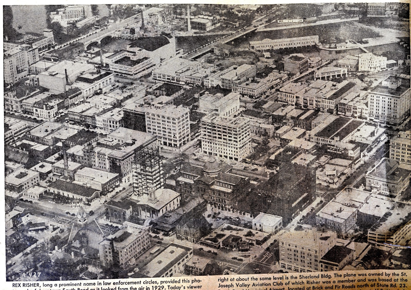 downtown south bend indiana 1929