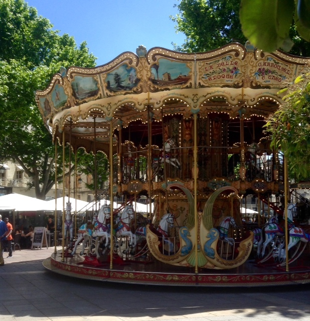 La Belle Epoche carousel in Avignon, France