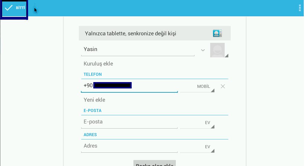 WhatsApp numara ekleme