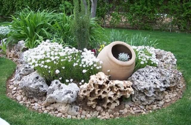 Decorar O Jardim Com Pedras Varias Soluções Maniaemania