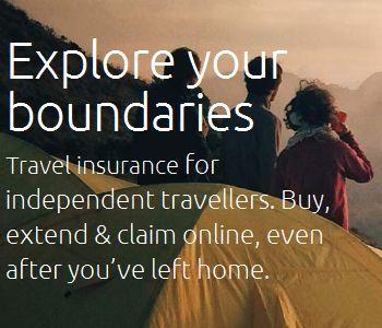 Explore your boundaries-Travel insurance for independent travellers. Buy, extend & claim online, even after you've left home.
