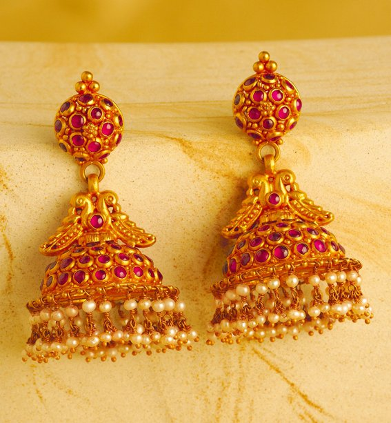 Indian Jewellery And Clothing Unique Designs Of Jhumkas