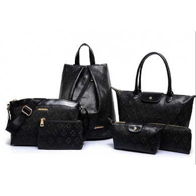 AA FASHION BAG ( 6 IN 1 SET) (BLACK)