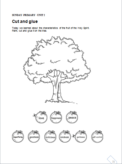 Free coloring pages of fruits of the holy spirit for Fruits of the holy spirit coloring pages