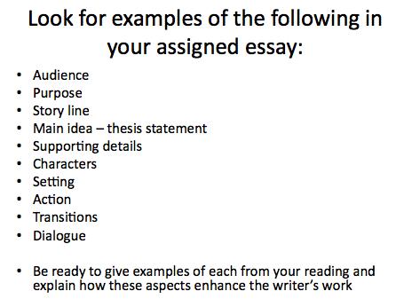 aspects of a narrative essay