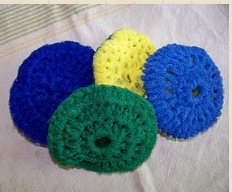 Crocheting Scrubbies With Netting : NYLON CROCHET SCRUBBIES PATTERN - Free Crochet Patterns