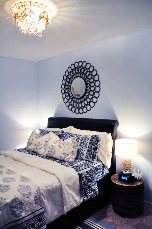 beachy guest room