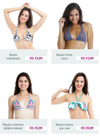 Biquini e moda praia Comprar biquínis