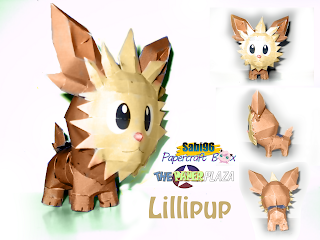 Pokemon Lillipup Papercraft download