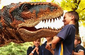 Un dinosaure dans une école de Sydney