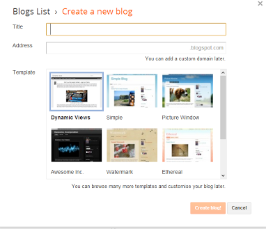 Start a blog with blogger today