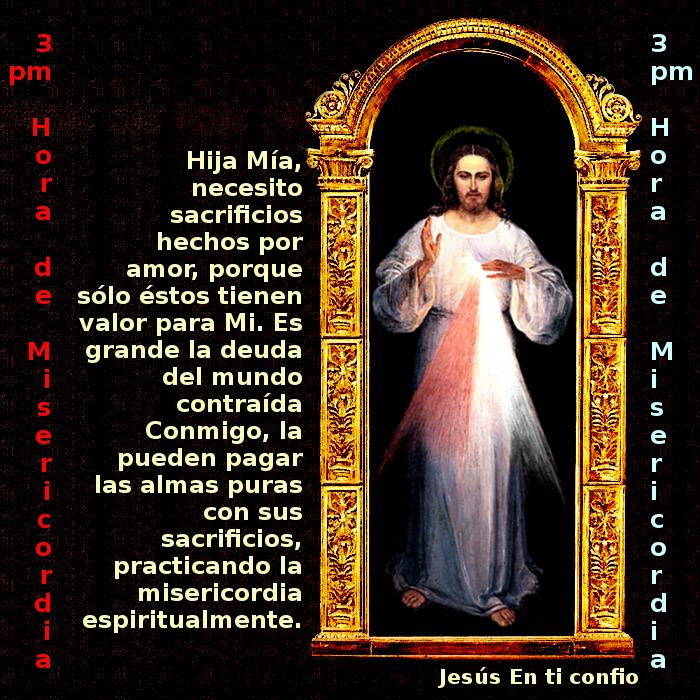 jesus con mensaje de su misericordia infinita