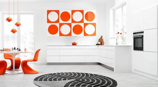 Fantas a geom trica cocinas con estilo - Cocinas naranjas y blancas ...