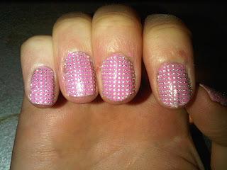 nail bling close up shot