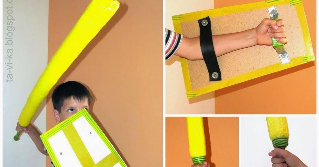 Как сделать меч из картона своими руками поэтапно 4