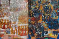 """Estudo para o painel """"PAZ"""" (1954) e Estudo para o painel """"GUERRA"""" (1952), Candido Portinari."""