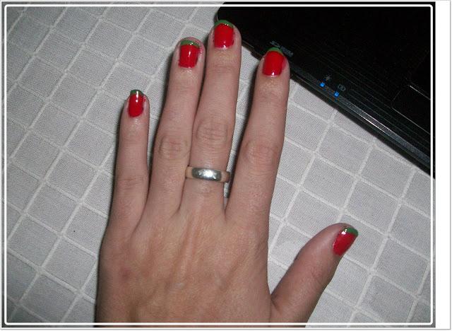 manicura francesa de colores