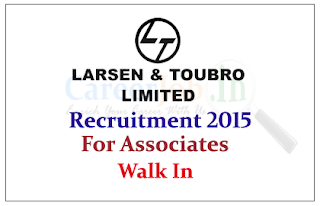 L&T Limited Recruitment 2015 for post of Associate