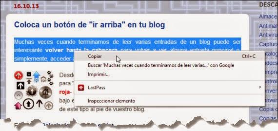 Evita que copien el contenido de tu blog
