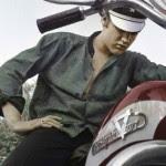 Elvis Presley celeb on motorcycles