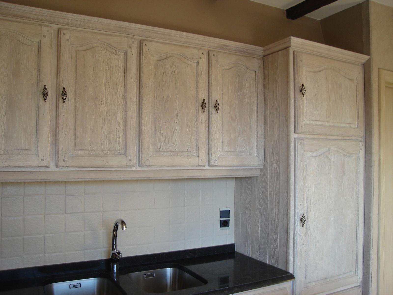 Eiken Keuken Whitewashen : Renovatie van een eiken keuken Renovatie van eiken keukens