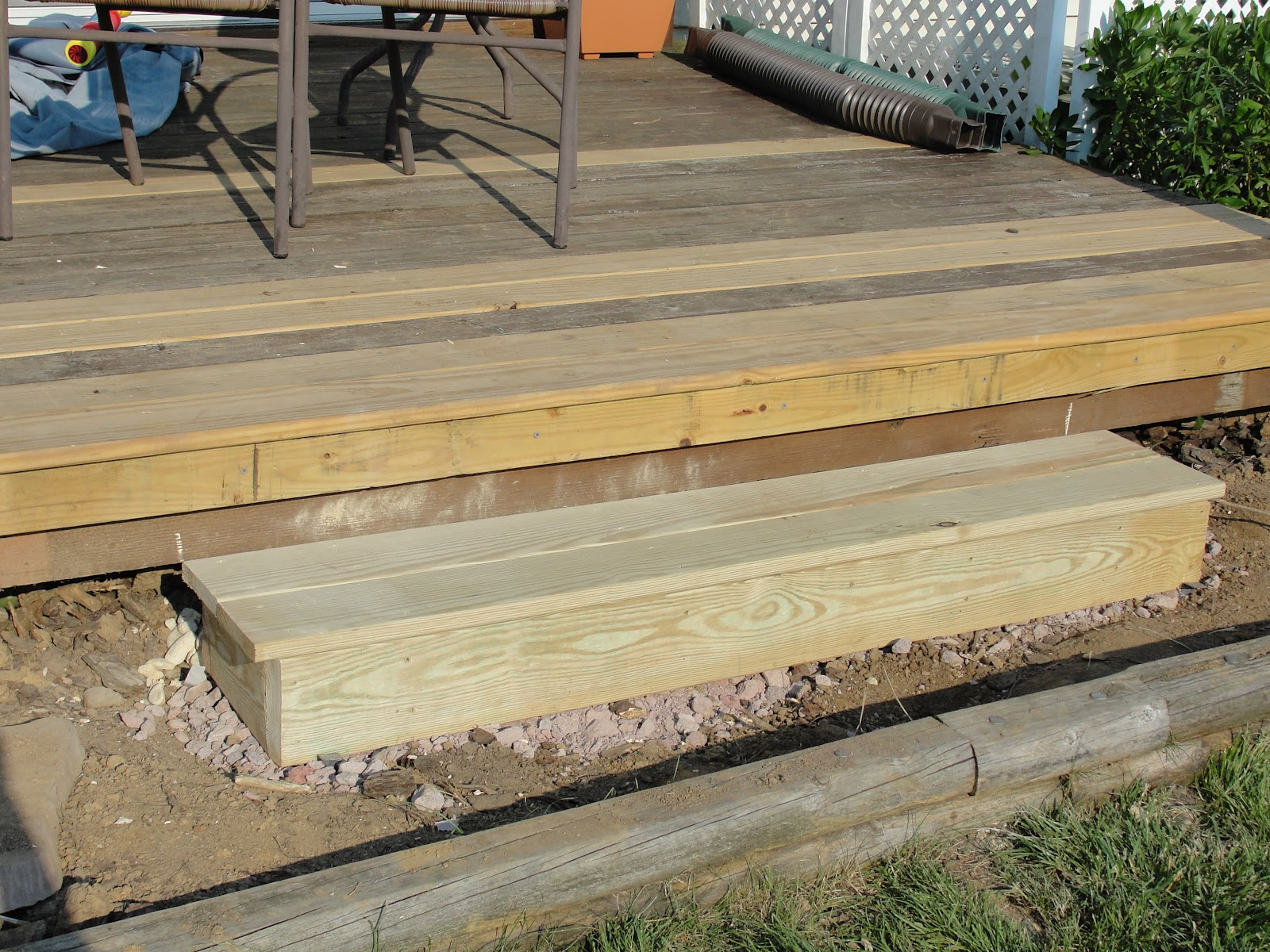 lessons from the garden building a box step for the deck