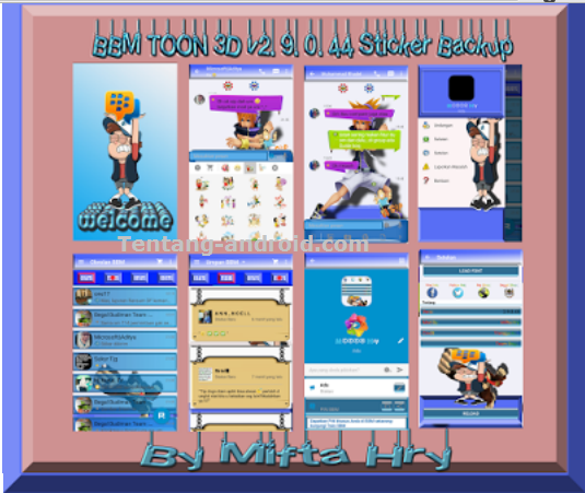 Download BBM TOON 3D THEMES 2.9.0.45 APK (Sticker BackUp)