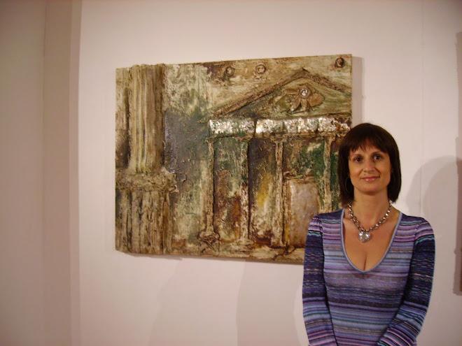 Carla with the work KARLSKIRCHE