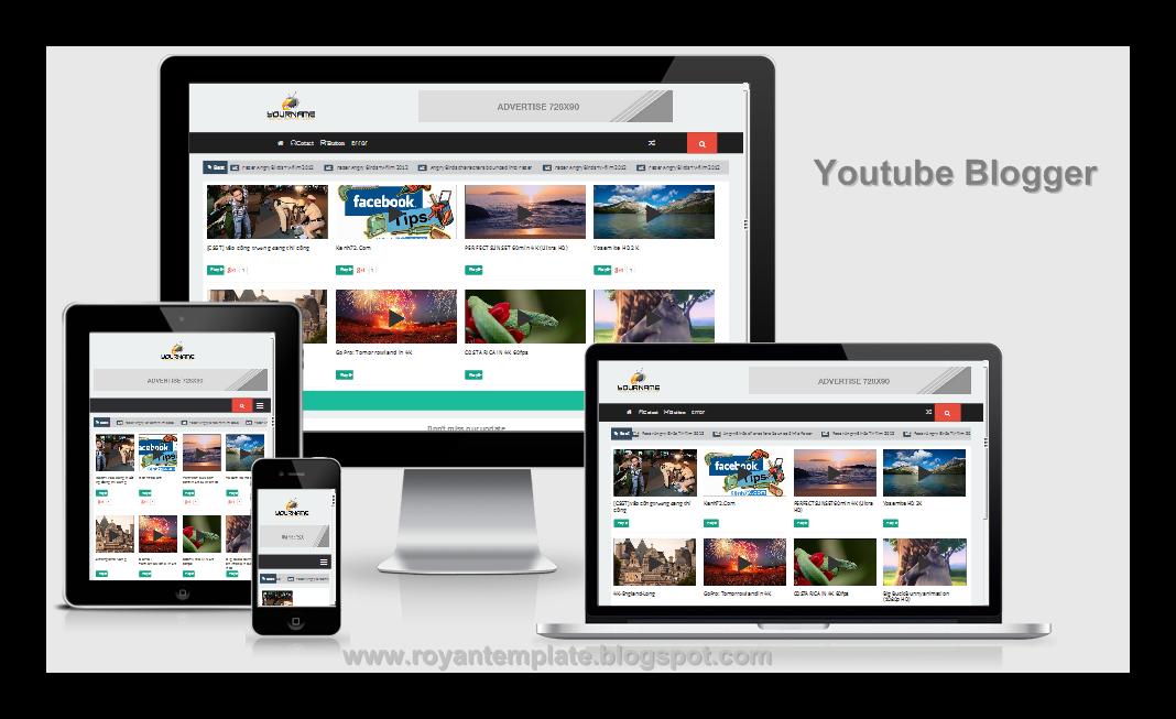 Youtube Responsive Blogger Template - royan templates