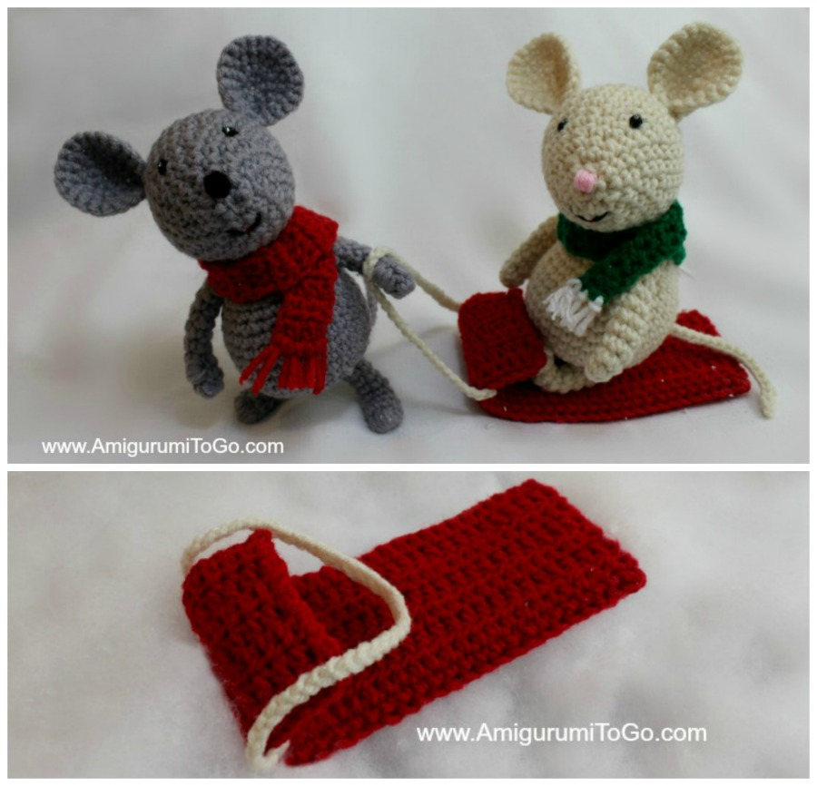 Amigurumi To Go Tutorial : Crochet sled for your amigurumi to go
