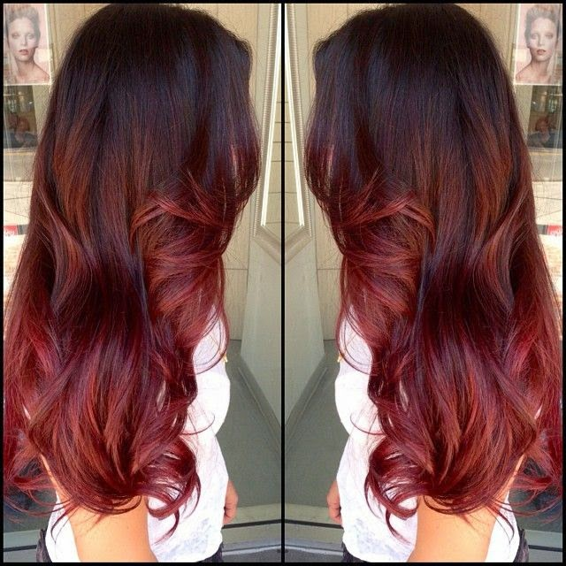 hair color red base with red and blonde peekaboo highlights