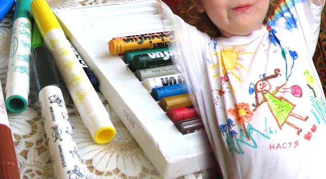 рисование на ткани, фломастеры для ткани, дизайн футболок