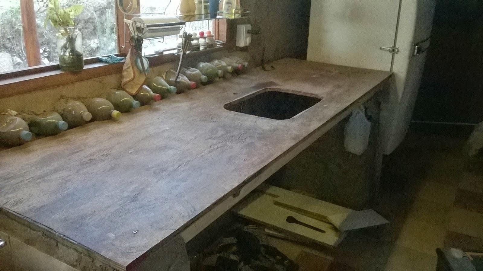 Navesierra cocina mesada terminada for Mesada de madera para cocina