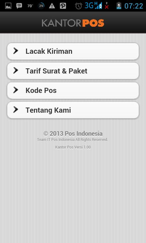 Melacak Kiriman Barang PT. Pos Indonesia Dengan Android